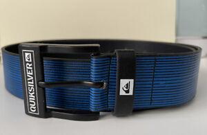Quicksilver Blue Black Stripe Belt Size Small Vintage Style