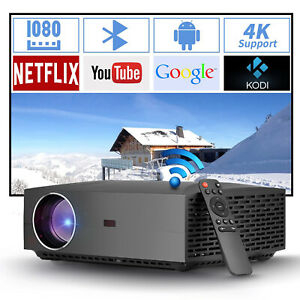 1080P FULL HD Dual WIFI Projector Wirelss Android Projector Home Theater 4K HDMI