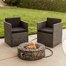 Best Choice Products BCP Stone Design Fire Pit Outdoor Home Patio Gas Firepit