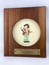 "Hummel Plate ""Little Music Maker"" Little Fiddler With Frame 1st Edition #744"