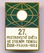 1963 TABLE TENNIS World Championships PIN Badge PING PONG TT