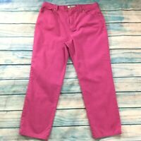 "Charter Club Womens Jeans size 14 Short Dark Pink Straight x28"" Cotton Stretch"