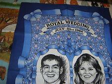 """Royal Wedding"" Prince Andrew Tea Towels Souvenir Cotton Holidays"