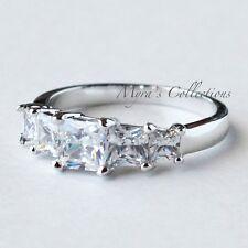 Wedding Engagement Ring Women's Size 10 2.52ct Princess Cut 5 Stone Anniversary