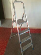 Haushaltsleiter 4 Stufen Stehleiter Aluminium Klappleiter Klapptritt Alu