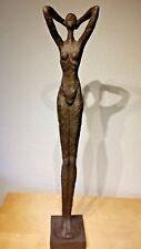Skulptur Dekofigur - Frau / Akt / aus Polyresin Groß 15 x 15 x 88 cm Statue