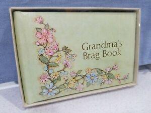 GRANDMA'S BRAG BOOK Photo Album Baby Snapshot Picture Flowers Vintage Gibson