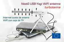 NextG USB-Yagi TurboTenna 802.11n Internet cuota de antena WiFi con caja de TV