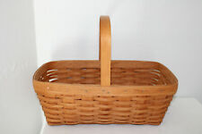 1990 Longaberger Small Market Basket, Single Handle