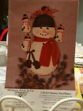 Hickory Stick & Co H-213 Sammy Snowflakes Hanging Card Holder or Door Dec UNCUT