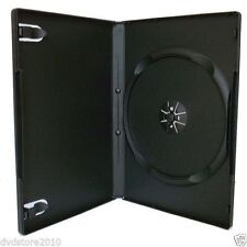 100 CUSTODIE DVD SINGOLE NERE 14mm per CD DVD -R vergini  custodia BOX11