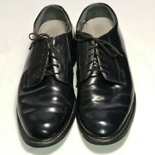 Bates Uniform Footwear Black Dress Shoes Vibram High Gloss Oxford 11 D Military