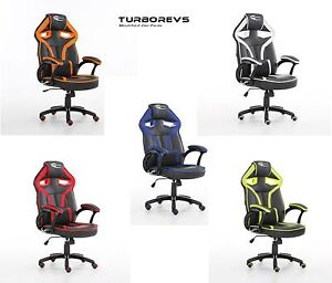 NEW NEO MORPHEUS RACING BUCKET GAMING COMPUTER DESK OFFICE CHAIR FAUX LEATHER