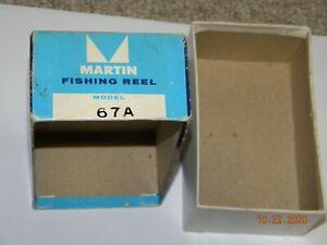 VINTAGE EMPTY MARTIN MODEL 67A FLY FISHING REEL BOX