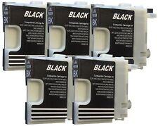 5 Cartouches D'Encre Compatible avec Brother DCP195C MFC490CW MFC-J615W Noir