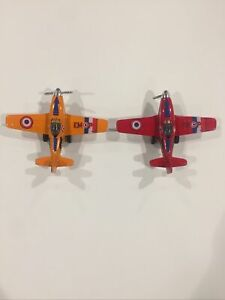 Two Rare EMOP Black Panther K502 Diecast Military Toy Planes Size 5 Inch