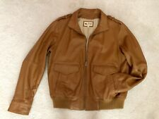 Vintage 70s Tan Leather Wilson's Once Upon A Time In Hollywood Jacket L