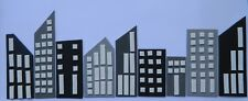 15 x BUILDINGS cake topper DECORATION KIT superhero SIDE DESIGN batman SUPERMAN
