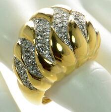 Kenneth J Lane KJL Polished Gold Crystal Cocktail Ring Sz.- 8