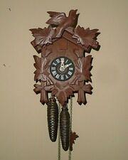 Small Vintage German Black Forest Wood Cuckoo Clock Works!