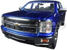 2014 CHEVROLET SILVERADO PICKUP TRUCK BLUE WITH EXTRA WHEELS 1/24 BY JADA 97223