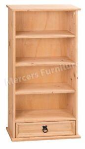 Corona DVD Rack Bookcase 1 Drawer 4 Shelf Display Storage Unit Mercers Furniture