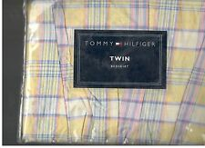 Tommy Hilfiger Huckleberry Corner Plaid Twin Bed Skirt Yellow Pink Blue  New