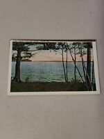 Vintage Postcard White Boarder Lake Auburn from West Shore Auburn Maine ME #488