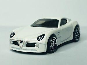 Hot Wheels Alfa Romeo 8C Competizione 'Loose' White
