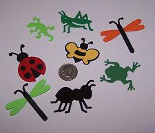 8 Piece Bug Set Premade PAPER Die Cuts / Scrapbook & Card Making