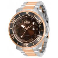 Invicta Men's Watch Pro Diver Quartz Brown Dial Two Tone Bracelet 30566