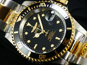 NEW Invicta 41mm Mens Coin Edge Pro Diver Automatic TT Black Dial 200M SS Watch