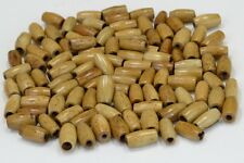 "50 PCS COFFEE BROWN BUFFALO BONE TUBE HAIR PIPE CHOKER BEADS 1/2"" #T-2301"