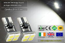 CanBus W5W T10 Wedge White LED SMD Front Side Lights Parking Bulbs Sidelights