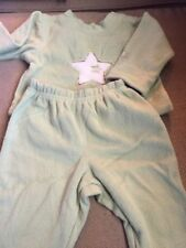 Boy's --2 Piece Fleece Long Outfit---Child's Place---green--3-6 Months