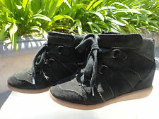 Isabel Marant Bluebel Black Hidden Wedge Suede Sneakers, EUR36, Portugal