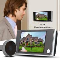 "3.5"" Digital Door Doorbell Peephole Viewer Peep Hole Camera DVR Night Vision New"