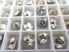 6 Silver Shade Foiled Swarovski Crystal Chaton Stone 1088 39ss 8mm