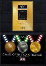 Tuvalu 2012 Mnh Juegos Olímpicos de Londres 4v en 2 hojas Juegos Olimpiada medallas de Oro Plata