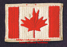 LMH PATCH Badge  CANADIAN MAPLE LEAF FLAG  Canada Red   ERROR MIS-STITCH  3-1/8""