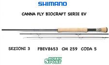"CANNA SHIMANO BIOCRAFT EV FLY ROD 8' 6""  CODA 5 PESCA A MOSCA"
