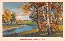Belpre OH Autumn on the Ohio River (nr Blennerhassett Island) 1940s Linen PC