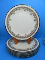 """Lenox Lace Point 8 1/8"""" Salad Plates Set Of 6 Plates Very Good Condition"""