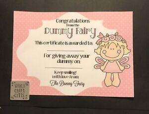 Dummy Fairy Certificate Pink Children's Gift