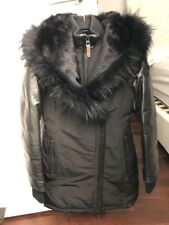 Rudsak Winter Jacket ( Leather And Fur) Size XS + Carrying Bag