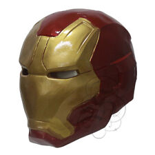 Latex Full Face Iron Man Avengers Superhero Fancy Dress Horror Theme Props Mask