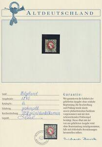 Helgoland 1875 Mi.Nr. 16b gestempelt auf Borek Vordruck 120,00 Euro.