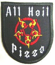 All Hail Pizza Patch Wicca Pentacle Iron/Sew On Patch