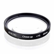 55mm +10 High Definition Close Up Macro Lens Sony Canon Nikon DSLR + FREE Pouch