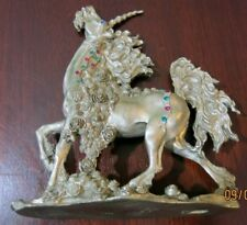 Unicorn Comstock Pewter W/ Rinestones Greg Neeley Fantasy 1994